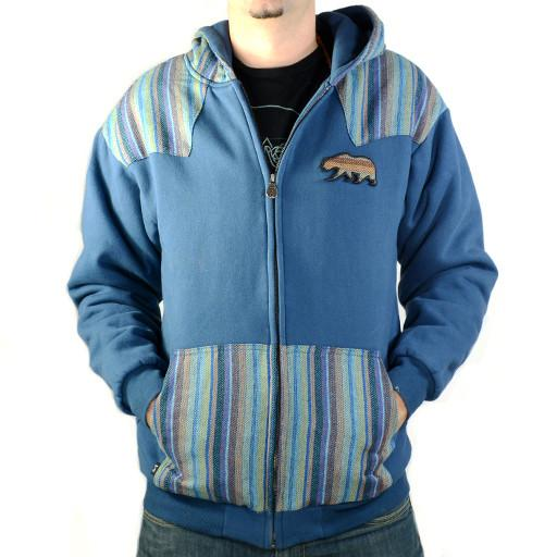 Bear Collection Navy Tweed Zip Hoodie - Grassroots California