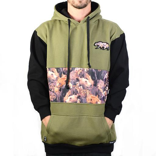 Bear Collection Real Bear Green Tall Pullover Hoodie - Grassroots California