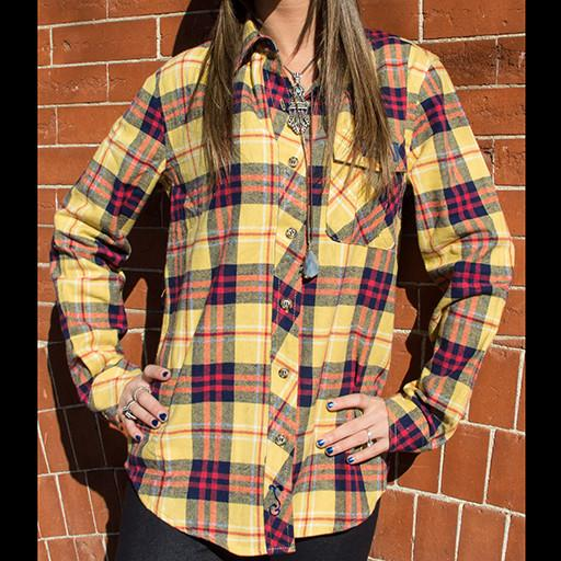 Bear Collection Women's V2 Gold Flannel - Grassroots California