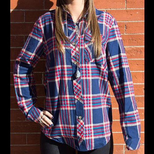 Bear Collection Women's V2 Red/Blue Flannel - Grassroots California