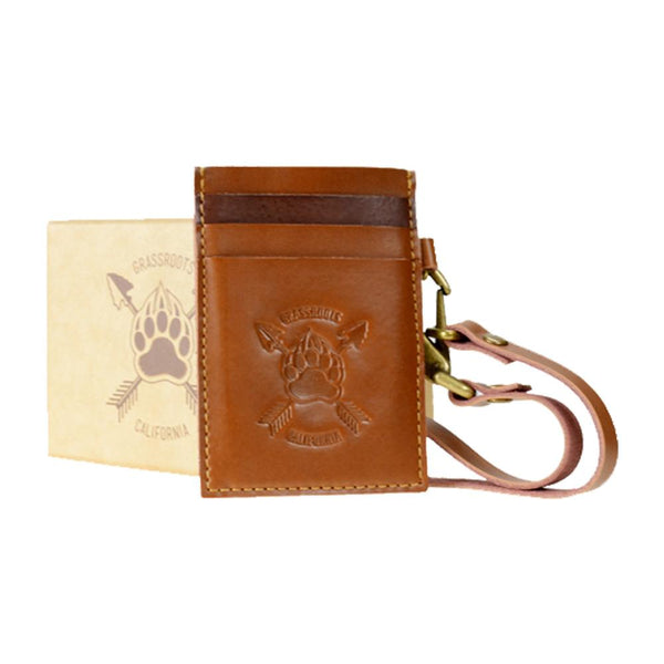 Bear Scout Paw Leather Card Holder Wallet - Grassroots California - 1