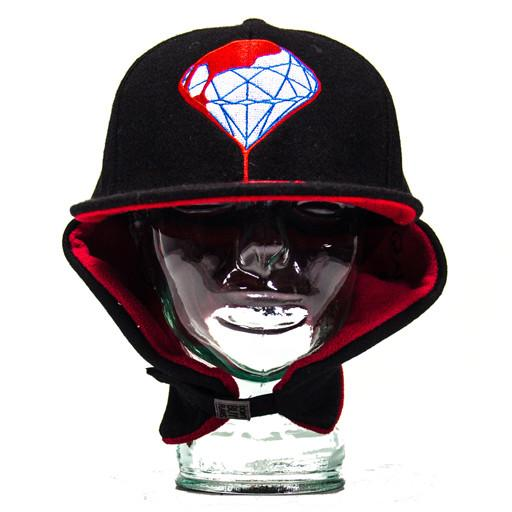 Blood Diamond Earflap Black Fitted - Grassroots California