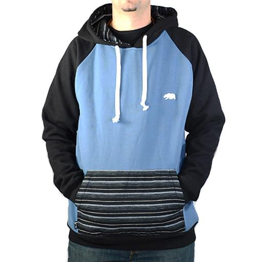 Blue Stripe Pullover Hoodie - Grassroots California - 1