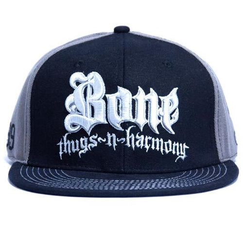Bone Thugs N Harmony Gray/Black Fitted - Grassroots California