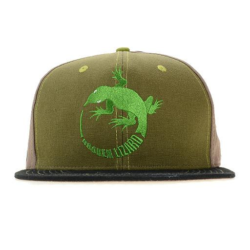 Broken Lizard Brown Snapback