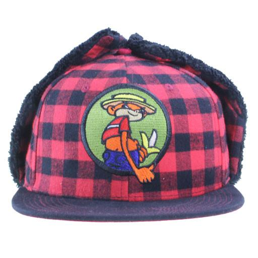 Broken Lizard Johnny Chimpo Flannel Earflap Fitted