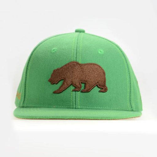 Kid's Cali Green Adjustable Hat - Grassroots California - 1