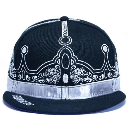 Caver Jewelry Crown Bling Black Fitted - Grassroots California