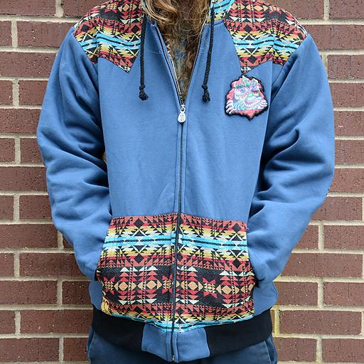 Chris Dyer The Ripper Removable Patch Hoodie Blue