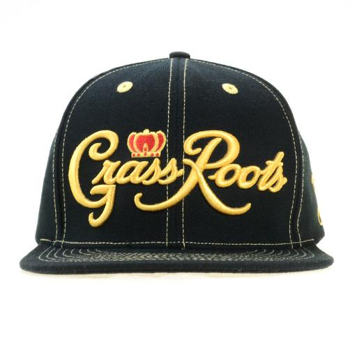 Classic Royal Roots Black Snapback
