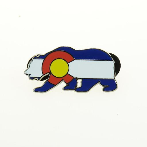 Colorado Flag Bear V2 Pin - Grassroots California