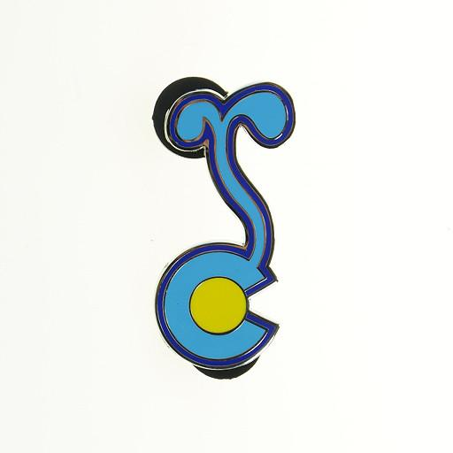 Colorado G Sprout Blue Yellow Pin