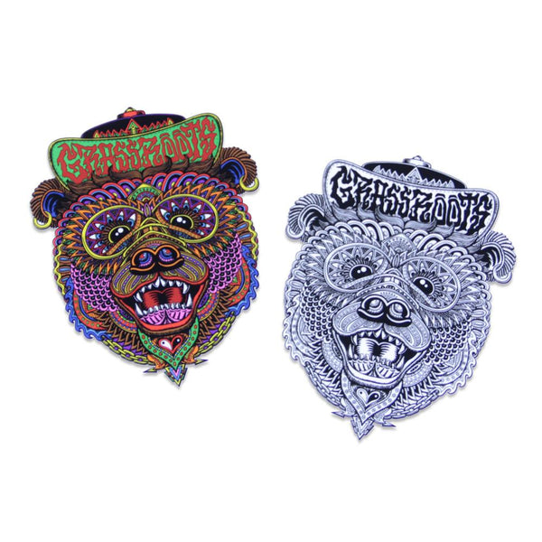 Chris Dyer Bear Sticker Combo - Grassroots California - 1