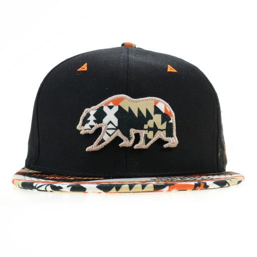 Desert Sprout Orange Removable Bear Black Fitted