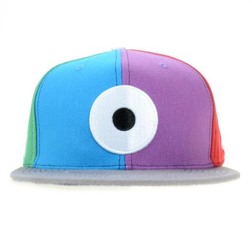 Down Neck Glass Rainbow Snapback