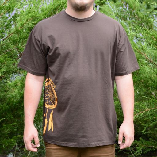 Dreamcatcher Side Brown T-Shirt - Grassroots California