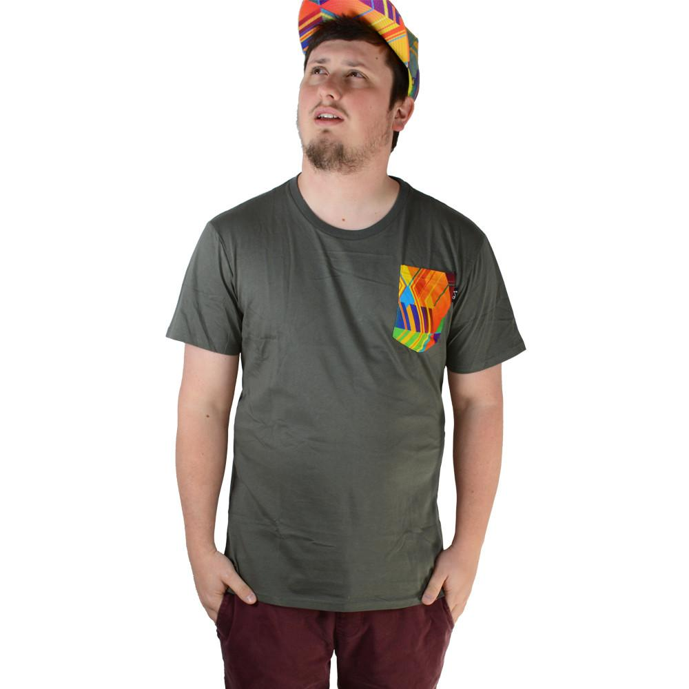 Electric Sunset Pocket T Shirt