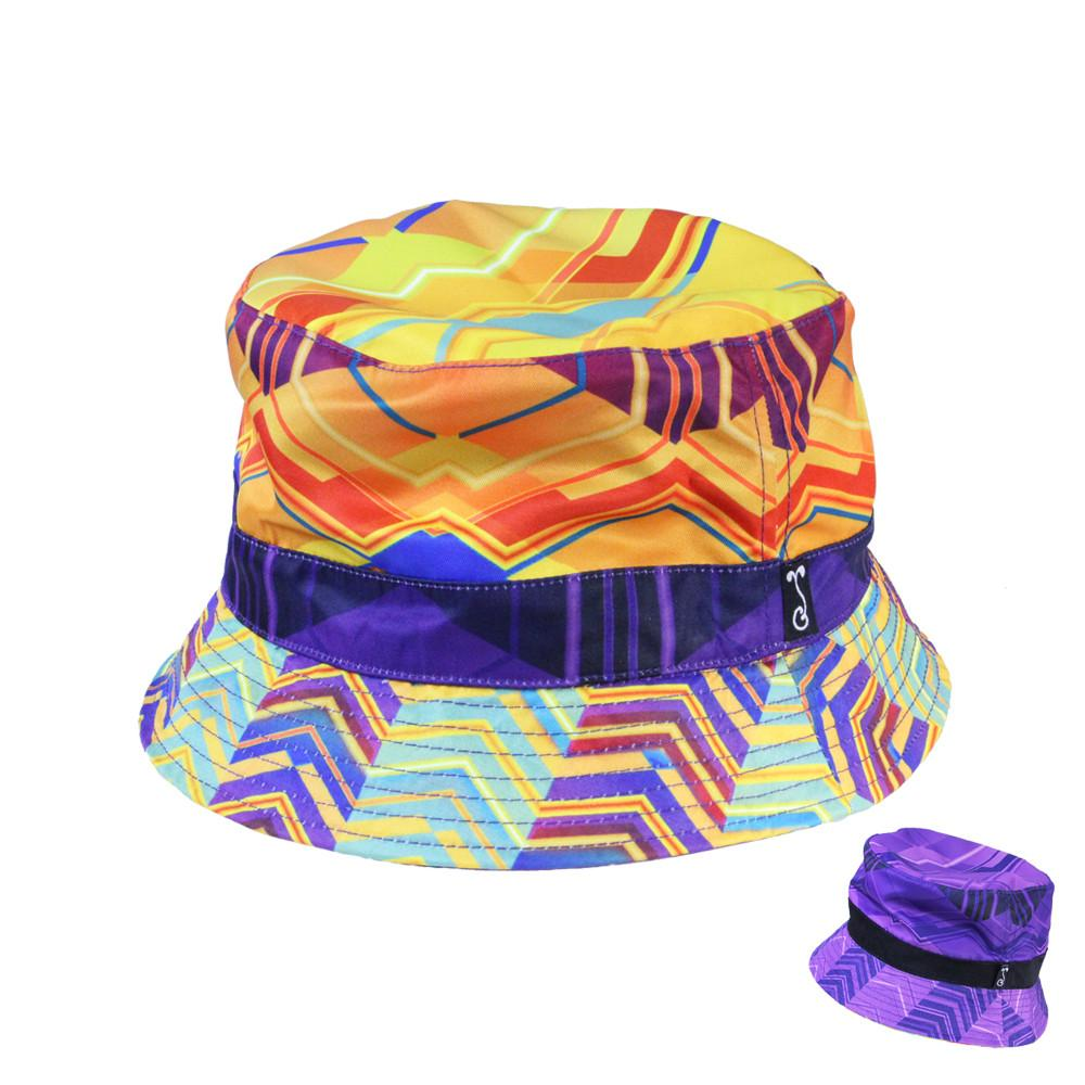 Electric Sunset Reversible Bucket