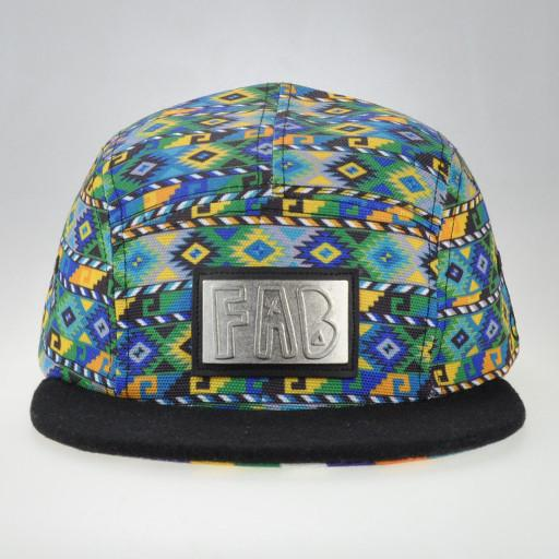 FAB Green 5 Panel Snapback - Grassroots California