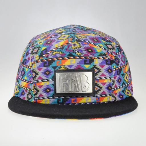 FAB Purple 5 Panel Snapback - Grassroots California