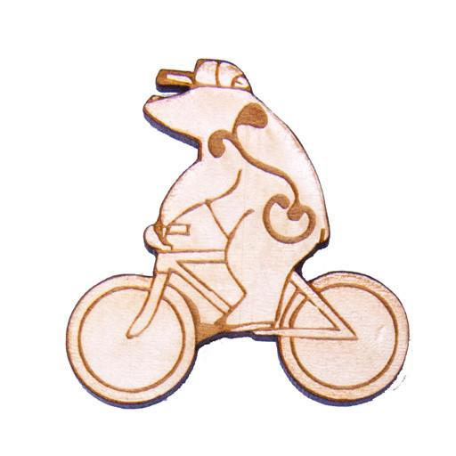 Fat Freddy's Cycling G-Sprout Wood Bear Pin