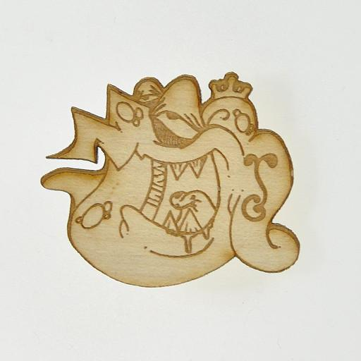 Fat Freddy's G Sprout Street Creature Wood Pin