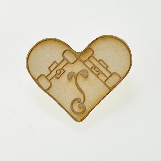 Fat Freddy's Skate Deck Heart Straight G Sprout Logo Pin
