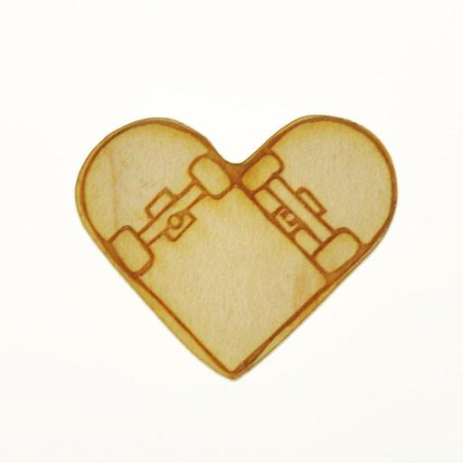 Fat Freddy's Skate Deck Heart Blank Pin - Grassroots California