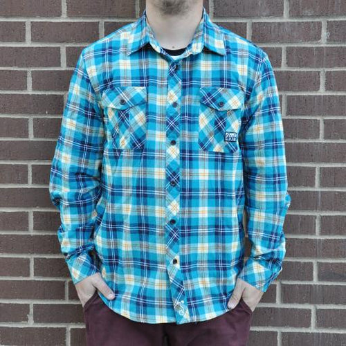 Flannel Men's Blue Teal 2015 - Grassroots California