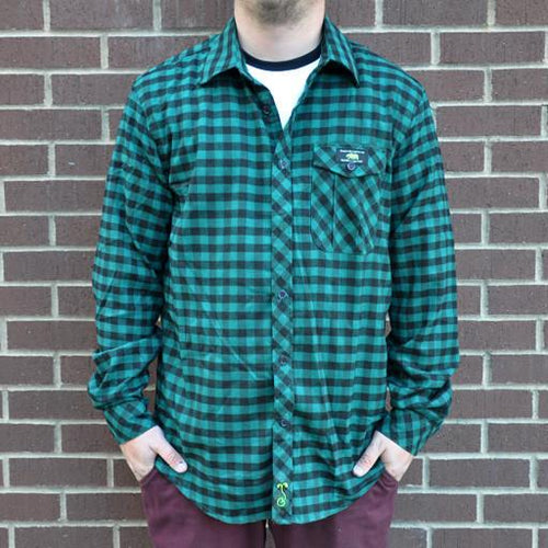 Flannel Men's Green and Black 2015 - Grassroots California