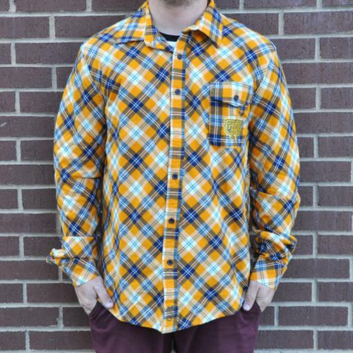 Flannel Men's Yellow Blue 2015 - Grassroots California