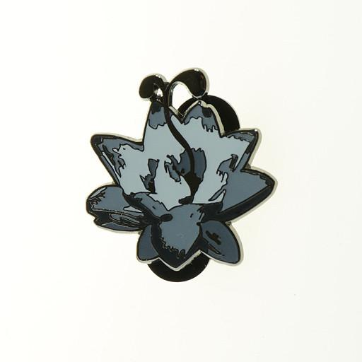 G Sprout Lotus Flower Pin Black