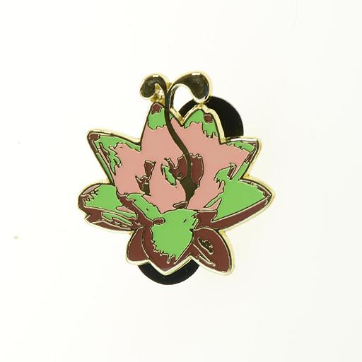 G Sprout Lotus Flower Pin Gold