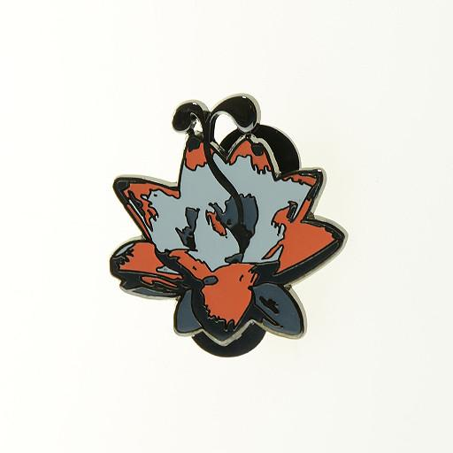 G Sprout Lotus Flower Pin Red