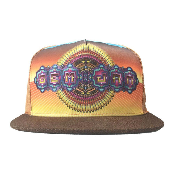 Gem & Jam 2016 Orange Shallow Snapback - Grassroots California