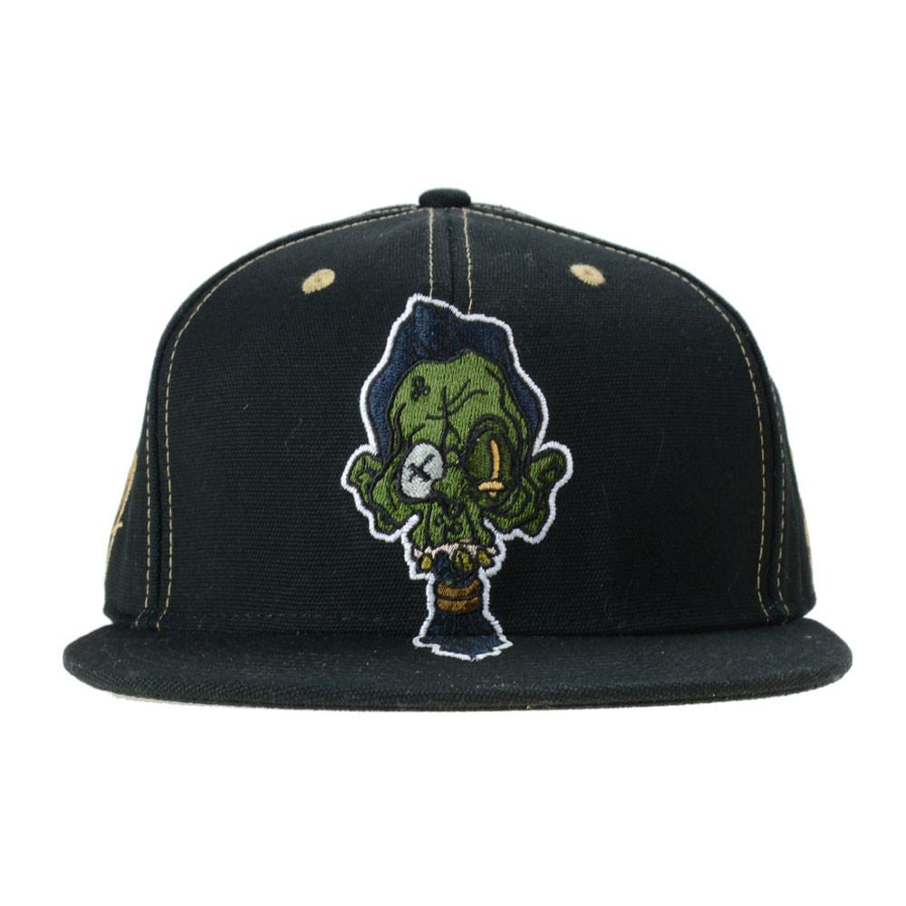 Ghost Glass Shrunken Head Black Fitted - Grassroots California - 1
