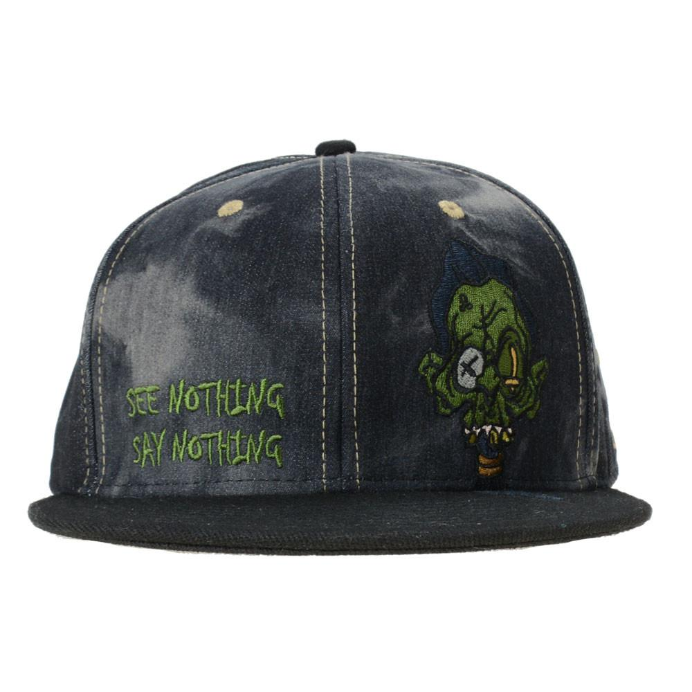 Ghost Glass Shrunken Head Denim Snapback