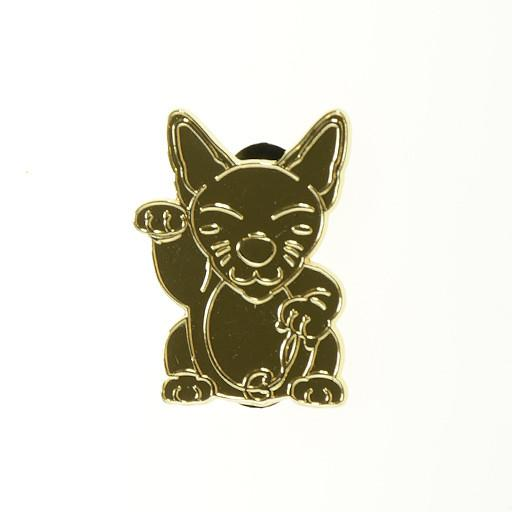 Good Luck Monster Kitty Gold Pin