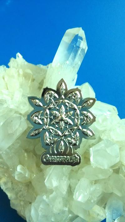 Grassroots Silver Flower Pin
