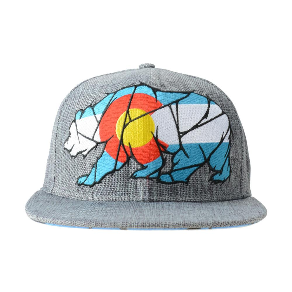 Colorado Mosaic Bear Gray Fitted - Grassroots California - 1