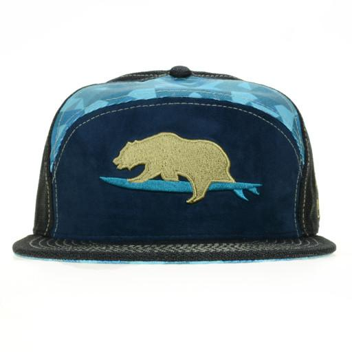 GRC Surf Bear Blue 6 Panel Fitted