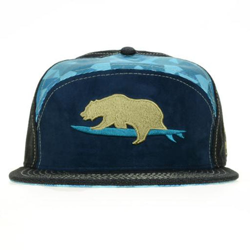 GRC Surf Bear Blue 6 Panel Fitted - Grassroots California - 1