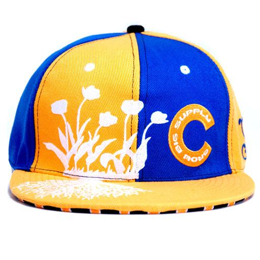 Grow Big Supply Yellow/Blue Fitted Hat