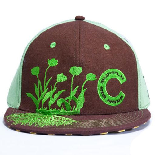 Grow Big Supply Grn/Brown Fitted Hat - Grassroots California