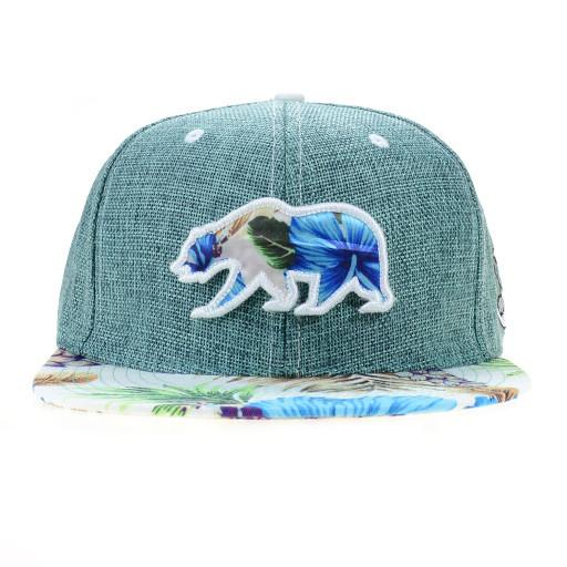 Hangroots Teal Floral Removable Bear Fitted