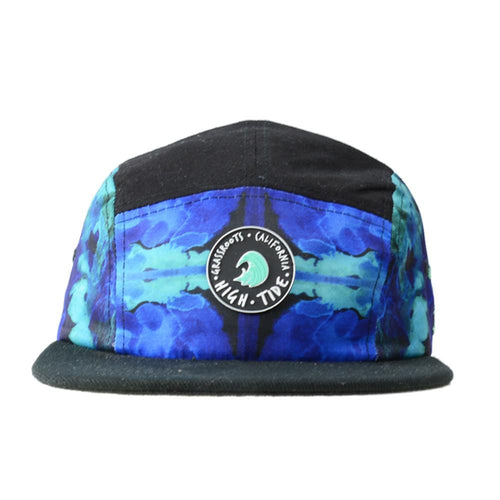 High Tide Blue 5 Panel Strapback - Grassroots California - 1