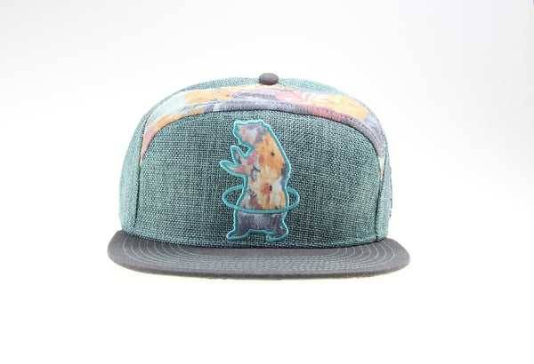 Hularoots Floral 6 Panel Fitted - Grassroots California
