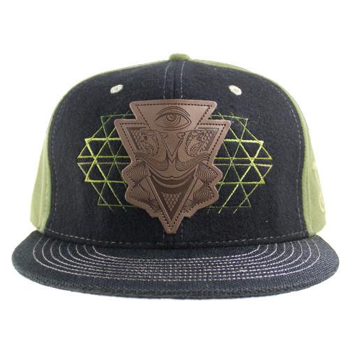 Illuminati Leather Green Fitted