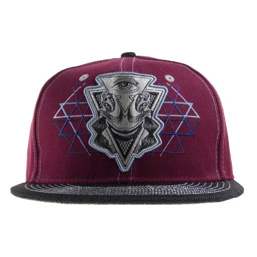 Illuminati Red Snapback - Grassroots California - 1