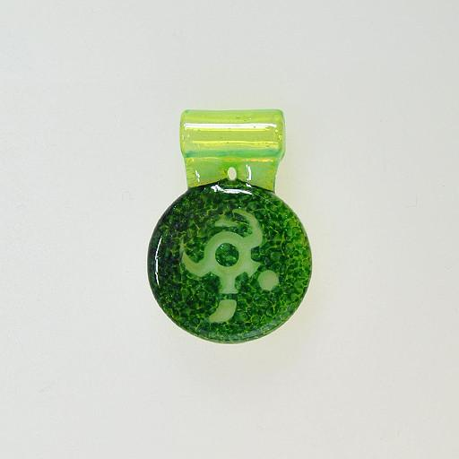 iO Glass Icon Amulet Pendant Green